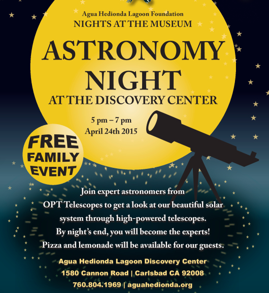 North County San Diego Family Happenings…Astronomy Night in