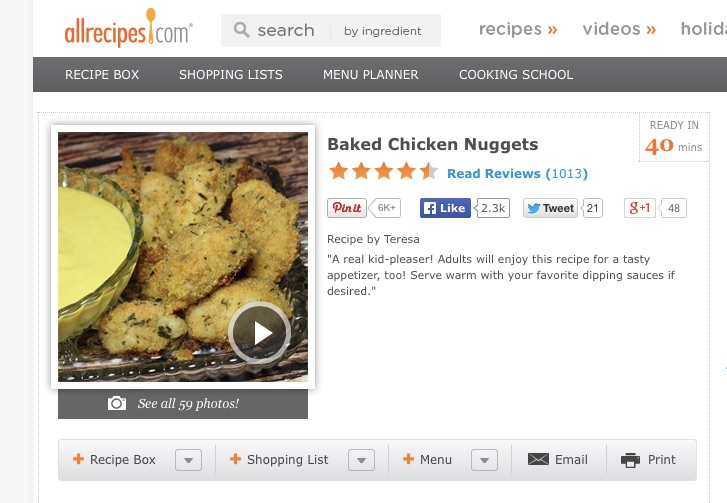 Baked Chicken Nuggets copy