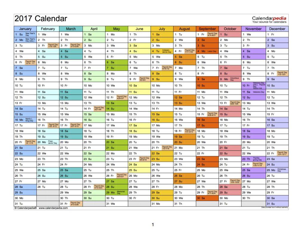 2017-payroll-calendar
